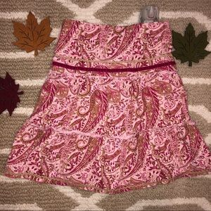 Gorgeous! Pink paisley tiered boho skirt size 5/6